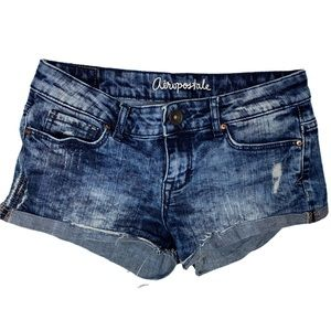 Aeropostale size 2 acid wash shorty shorts